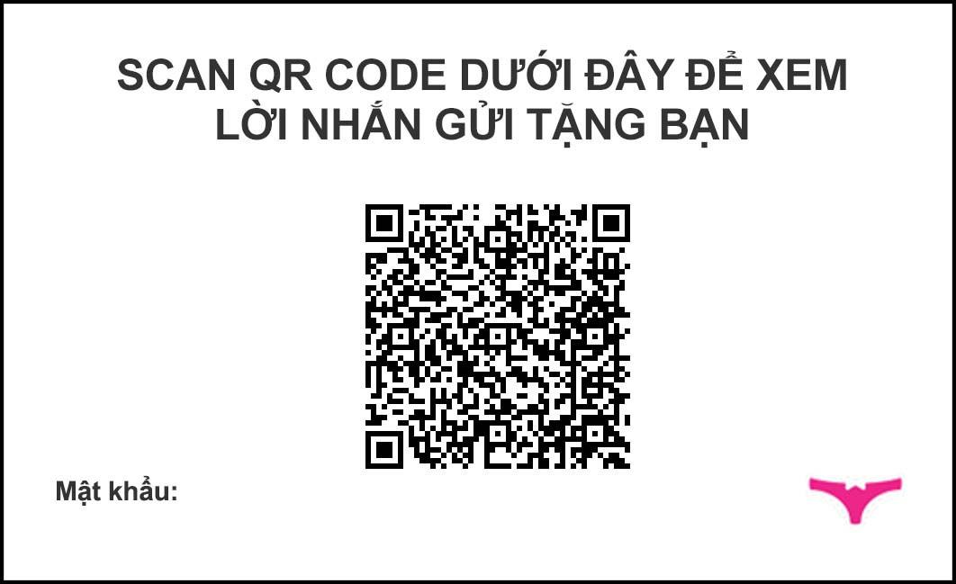 Ảnh demo thiệp QR Code - Mặt sau