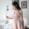 Đầm lụa babydoll hồng cam dễ thương