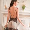 Váy ngủ gợi dục gồm quần lọt khe nữ trong suốt - Màu Đen, Đỏ, Xám Free size gợi dục - tk1443-dam-ngu-lua-goi-cam-4.jpg