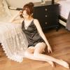 Váy ngủ gợi dục gồm quần lọt khe nữ trong suốt - Màu Đen, Đỏ, Xám Free size gợi dục - tk1443-vay-lua-goi-cam-5.jpg