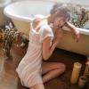 Đầm ngủ cup ngực chéo tà quyến rũ