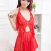 Váy ngủ dễ thương kèm quần lót nữ cao cấp - Màu Đỏ Free size chẳng sợ chồng chê - tk892-vay-ngu-sexy-ho-lung-1.jpg