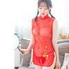 Đầm ngủ gồm quần lót nữ trong suốt - Màu Đỏ Free size - Khơi dậy ham muốn - ao-ngu-suon-xam-tk2202-3.jpg