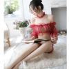 Bộ ngủ trễ vai sexy xuyên thấu - Màu Đỏ, Xám Free size - Siêu mỏng - do-ngu-tre-vai-sexy-tk2145-7.jpg