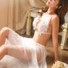 Váy ngủ cô dâu thêu hoa trong suốt cùng quật lọt khe quyến rũ - Màu Trắng Free size - Thiêu đốt ánh nhìn chàng ấy - tk1452-set-do-ngu-voan-2.jpg