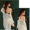 Đầm ngủ dễ thương cùng quần lót nữ đẹp nhất + Áo ngực không gọng - Màu Trắng, Đen Free size - Siêu mỏng - tk1495-ao-choang-kem-bo-do-lot29.jpg