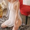 Đầm ngủ cổ yếm xẻ 2 tà sexy kèm quần lọt khe nữ trong suốt - Màu Trắng, Đen Free size - Khiến chàng ham muốn bạn - tk1673-vay-ngu-sexy-11.jpg