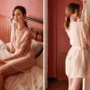 Áo ngủ siêu mỏng gồm quần lót nữ lọt khe trong suốt - Màu Trắng, Hồng Free size - Thật gợi cảm - tk1709-ao-choang-ngu-mau-hong-phan-de-thuong-3.jpg