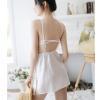 Váy ngủ lụa cùng quần lót lọt khe sexy - Màu Trắng, Đen, Đỏ đô Free size - Khiến chàng kiệt sức vì bạn - tk1809-vay-ngu-lua-phoi-ren-7.jpg