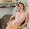 Váy ngủ bodysuit xẻ ngực sâu vải ren trong suốt - Màu Đen, Hồng Free size - Quyến rũ chết người - tk1931-ao-ngu-bodysuit-ho-nguc-sexy-1.jpg