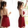 Váy ngủ phi lụa mềm mỏng quyến rũ - Màu Đỏ, Đen, Hồng Free size - Làm chàng không thể chối từ - tk1934-dam-ngu-lua-goi-cam-3.jpg