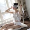 Áo ngủ ren kèm quần lụa cao cấp + ruy băng bịt mắt gợi cảm - Màu Trắng Free size - Thật gợi tình - tk1955-bo-do-ngu-ren-goi-cam-4.jpg