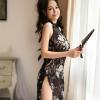 Váy ngủ sườn xám ren hoa gợi cảm - Màu Đen Free size - Làm chàng không thể chối từ - tk1972-ao-ngu-suong-xam-sexy-6.jpg