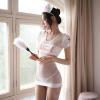 Đầm ngủ cosplay y tá xuyên thấu quyến rũ kèm quần lót lọt khe - Màu Trắng, Đen cỡ M - Chắc chắn kích thích chàng - tk1985-ao-ngu-y-ta-om-body-trong-suot-5.jpg
