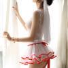 Váy ngủ cô dâu quyến rũ phối màu đặc sắc cùng cài tóc dễ thương - Màu Đỏ, Đen Free size - Khiến chàng kiệt sức vì bạn - vay-ngu-co-dau-tk2081-sexy-7.jpg