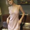 Váy ngủ gợi dục kèm quần lót nữ trơn - Màu Đen, Hồng cỡ M - Khiến chàng kiệt sức vì bạn - vay-ngu-lua-phoi-ren-quyen-ru-tk2227-1.jpg