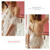 Váy ngủ cô dâu quyến rũ kèm quần lót nữ ren + vòng tay gợi cảm - Màu Trắng Free size - Mặc vào cùng nhau thăng hoa cảm xúc - vay-ngu-trang-ngot-ngao-tk2051-6.jpg