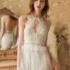 Váy ngủ ren trong suốt kèm quần lót nữ bằng lưới - Màu Đen, Đỏ, Trắng, Hồng Free size - Vũ khí đánh gục chàng - vay-ngu-yem-goi-cam-tk1777-12.jpg
