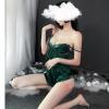 Đầm ngủ cùng quần lót nữ lọt khe + Áo ngực đẹp - Màu Đỏ, Đen, Xanh lá cây cỡ M - Khêu gợi - do-ngu-bo-bang-lua-goi-cam-tk1996-11.jpg