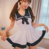 Đầm ngủ cosplay thuỷ thủ dễ thương - Màu Trắng Free size - Không thể rời mắt - tk1560-vay-ngu-cosply-thuy-thu-de-thuong-2.jpg