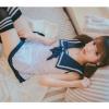 Đầm ngủ cosplay thuỷ thủ dễ thương - Màu Trắng Free size - Không thể rời mắt - tk1560-vay-ngu-cosply-thuy-thu-de-thuong-4.jpg