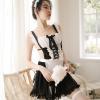 Váy ngủ cosplay hầu gái dạng yếm sexy - Màu Đen Free size - Lôi cuốn chàng trai của bạn - tk1741-vay-ngu-cosplay-hau-gai-5.jpg