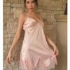 Váy ngủ gợi cảm giá rẻ cùng quần lót nữ mỏng - Màu Hồng cỡ S - Cuốn hút - vay-ngu-lua-diu-dang-tk1306-2.jpg
