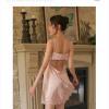 Váy ngủ gợi cảm giá rẻ cùng quần lót nữ mỏng - Màu Hồng cỡ S - Cuốn hút - vay-ngu-lua-diu-dang-tk1306-4.jpg