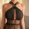 Váy ngủ siêu mỏng dạng yếm sexy - Màu Đen Free size - Hâm nóng cảm xúc - tk1357-dam-ngu-sieu-mong-3.jpg