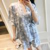Bộ đồ ngủ kimono quần short hoa dễ thương - Màu Xanh Free size - Hâm nóng cảm xúc - tk1415-bo-do-ngu-kimono-de-thuong-1.jpg