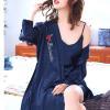 Áo choàng váy ngủ phi gợi cảm - Màu Đỏ đô, Xanh dương cỡ M - Thật gợi tình - tk1893-ao-choang-ngu-phi-goi-cam-3.jpg