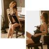 Váy ngủ xẻ trước hở ngực sexy - Màu Đen, Da Free size - Chẳng sợ chồng chê - tk1901-vay-ngu-sexy-72.jpg