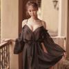 Đầm ngủ khoác trễ vai gợi cảm - Màu Trắng, Đen Free size - Quyến rũ chết người - tk1908-ao-khoac-ngu-tre-vai-goi-cam-12.jpg