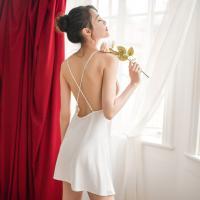 Váy ngủ lụa hở lưng gợi cảm