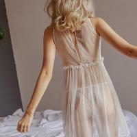 Đầm ngủ trắng gợi cảm