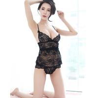 Bộ ngủ kèm Áo ngực bra + quần lót nữ ren - Màu Trắng, Đen Free size làm chàng không thể chối từ - 11.4.png