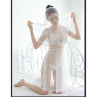 Váy ngủ cô dâu xuyên thấu cùng Áo ngực + quần lót nữ gợi cảm - Màu Trắng Free size táo bạo - 34b38c7bd519cb8a6d22271e6b0f2b44.jpg