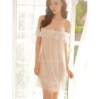 Váy ngủ trễ vai siêu mỏng gợi cảm kèm quần lọt khe nữ trong suốt - Màu Trắng, Đen Free size thật gợi tình - 8.5_0.png