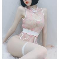 Đầm ngủ sườn xám trong suốt sexy - Màu Đen, Hồng Free size - Yêu đầy đam mê - ao-ngu-suon-xam-kep-vo-sexy-tk2288-2.jpg