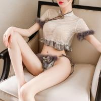 Áo ngủ sườn xám sexy viền lông vũ kiêu sa - Màu Đen, Xám Free size - Không thể rời mắt - ao-ngu-suon-xam-kieu-sa-tk3023-3.jpg