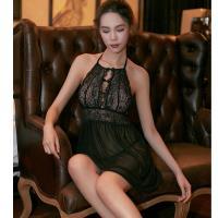 Váy ngủ yếm trong suốt gợi cảm - Màu Trắng, Đen Free size gợi dục - tk1384-dam-ngu-co-yem-goi-cam-4.jpg