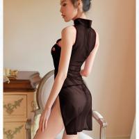 Đầm ngủ sườn xám quyến rũ kèm quần lót nữ lọt khe trong suốt - Màu Đen Free size - Siêu mỏng - tk1712-ao-ngu-suong-xam-goi-cam-6.jpg