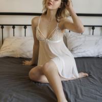 Váy ngủ gợi cảm giá rẻ gồm quần lót lọt khe nữ hà nội - Màu Trắng Free size - Mê hoặc đối phương - tk1800-vay-ngu-goi-cam-13.jpg