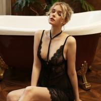 Váy ngủ quyến rũ cùng quần lót nữ siêu mỏng - Màu Đen Free size - Thăng hoa cùng người ấy - tk1831-dam-ngu-quyen-ru-goi-cam-3.jpg