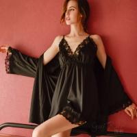 Váy ngủ kèm áo choàng lụa cao cấp pha ren nóng bỏng - Màu Trắng, Đen, Hồng Free size - Khiến chàng gần lại bạn hơn - tk1914-ao-choang-vay-ngu-goi-cam-11.jpg