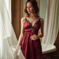 Váy ngủ lụa cao cấp xẻ ngực gợi cảm - Màu Trắng, Đen, Đỏ đô Free size - Hâm nóng cảm xúc - tk1919-vay-ngu-lua-goi-cam-2.jpg