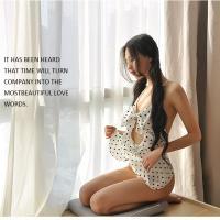 Váy ngủ voan đan dây sexy - Màu Chấm bi Free size - Quyến rũ chết người - tk1943-vay-ngu-de-thuong-2.jpg