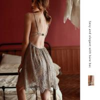 Váy ngủ ren cao cấp kèm quần lót nữ lọt khe quyến rũ - Màu Đen, Xám, Đỏ đô Free size - Yêu nhau dài lâu - tk1965-dam-ngu-ren-diu-dang-15.jpg