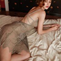 Váy ngủ ren cao cấp kèm quần lót nữ lọt khe quyến rũ - Màu Đen, Xám, Đỏ đô Free size - Yêu nhau dài lâu - tk1965-dam-ngu-ren-diu-dang-4.jpg