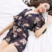 Váy ngủ xuyên thấu kèm quần lót nữ mỏng dính - Màu xanh dương Free size - Sexy - tk723-ao-choang-voan-hoa-kimono-xanh-duong-1.jpg